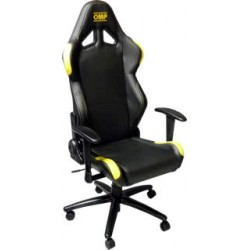 OMP Office chair black/yellow
