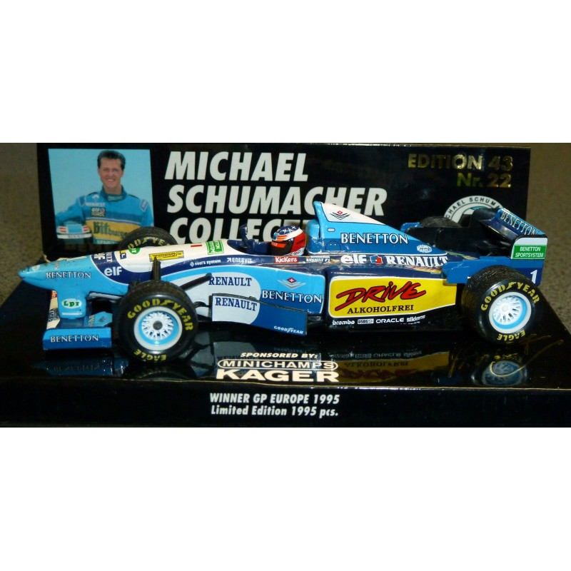 F1 gt; Miniature model cars gt; Scale 1/43rd gt; Benetton Renault B195 M