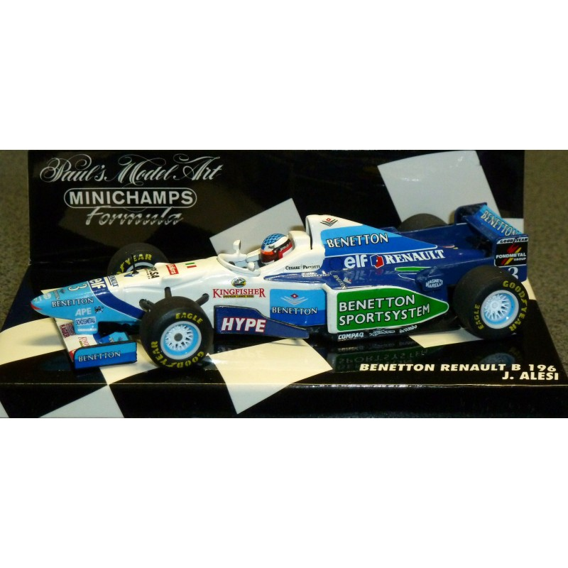Miniature Model Cars gt; Scale 1/43rd Benetton Renault B196 JAlesi