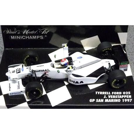 Tyrrell Ford 025 Tower Wings Jos Verstappen 1997