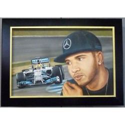 Lewis Hamilton oil painting