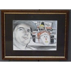 Peinture au crayon Ayrton Senna 1991