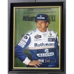 Peinture à l'huile Ayrton Senna