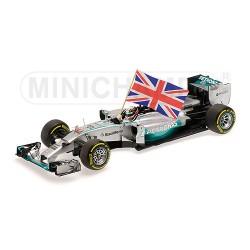 Mercedes F1 W05 Lewis Hamilton, vainqueur du GP d'Abou Dhabi 2014