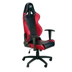chaise de bureau OMP noir/rouge