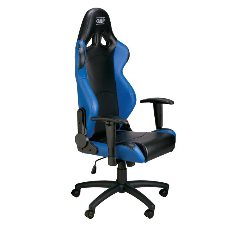 Chaise de bureau omp noir bleu formulasports - Chaise de bureau bleu ...