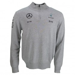 Mercedes AMG F1 1/2 Zip knitted Jumper