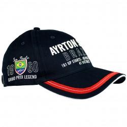 Ayrton Senna Brazil 3 times World Champion Cap