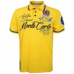 Ayrton Senna Poloshirt Monaco Champion yellow