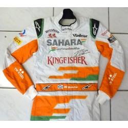 Combinaison dédicacée Paul Di Resta / Force India 2013