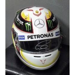 2015 signed Lewis Hamilton replica helmet