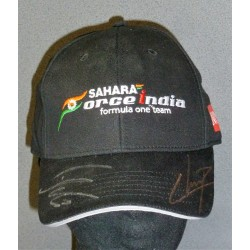 Casquette Force India dédicacée par Hülkenberg et Perez