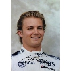 signed A4 Nico Rosberg photograph
