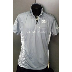 Manor Racing mens half zip polo shirts