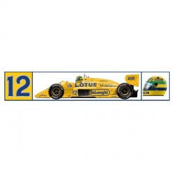 Autocollant Ayrton Senna Monaco 1ère victoire 1987