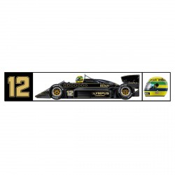 Ayrton Senna sticker Classic Team Lotus