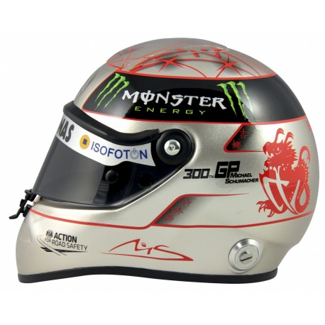 Michael Schumacher platinum helmet scale 1/2