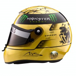 2011 Michael Schumacher gold helmet scale 1/2