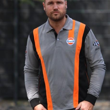 Grey'n orange Racing Polo longsleeves