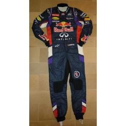 signed 2014 Sebastian Vettel Malaysia GP suit