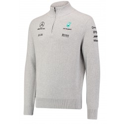 Mercedes AMG 1/2 zip knitted jumper