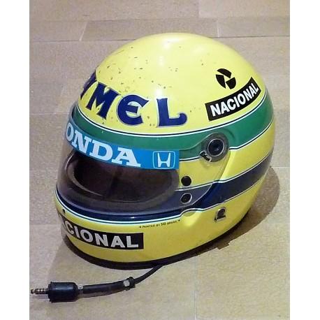 1987 Ayrton Senna replica helmet used look