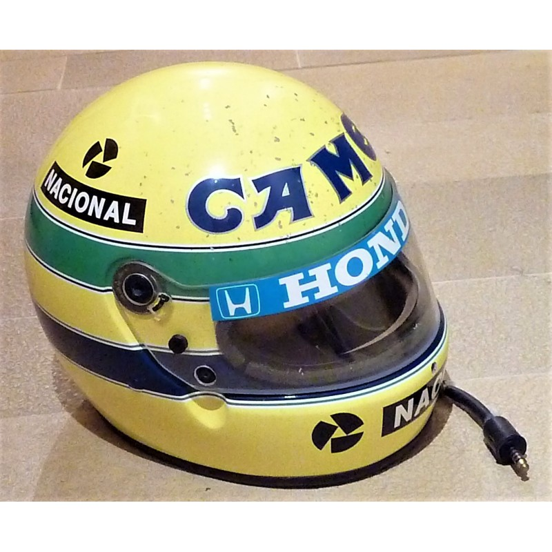 r plique de casque ayrton senna 1987 look utilis formulasports. Black Bedroom Furniture Sets. Home Design Ideas