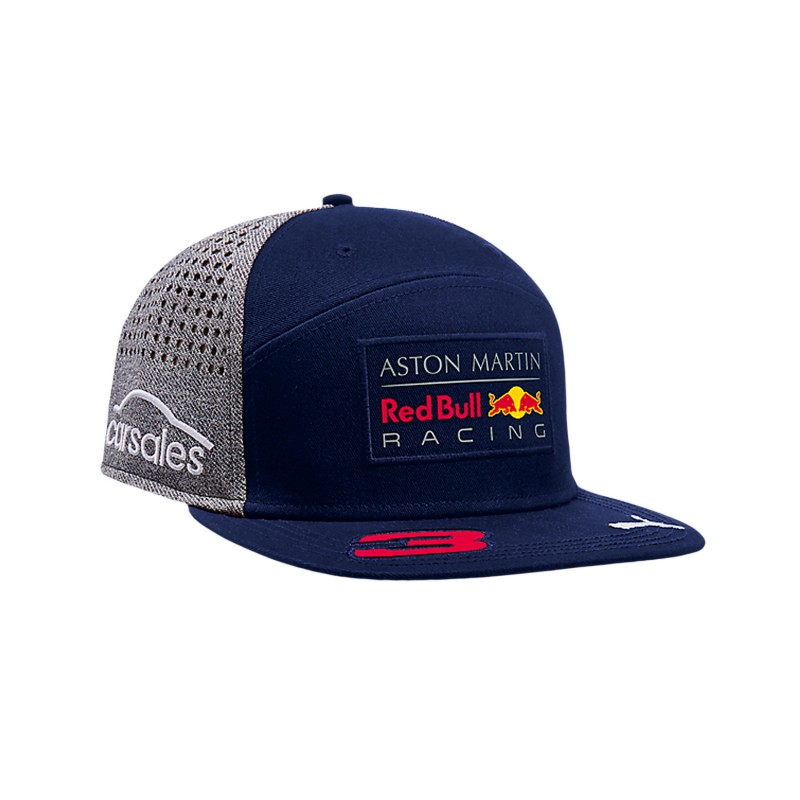 casquette daniel ricciardo red bull racing visi re platte formulasports. Black Bedroom Furniture Sets. Home Design Ideas