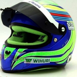 Mini casque 1/2 Felipe Massa Martini Williams 2016
