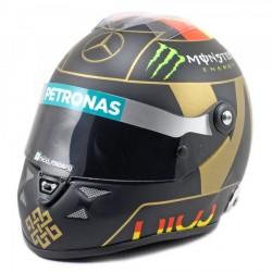 Mini casque 1/2 Nico Rosberg GP d'Allemagne 2014