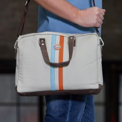 GPO Stripe messenger bag