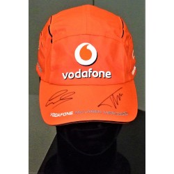 Casquette McLaren dédicacée Alonso et Hamilton