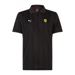 Ferrari Jacquard Polo black