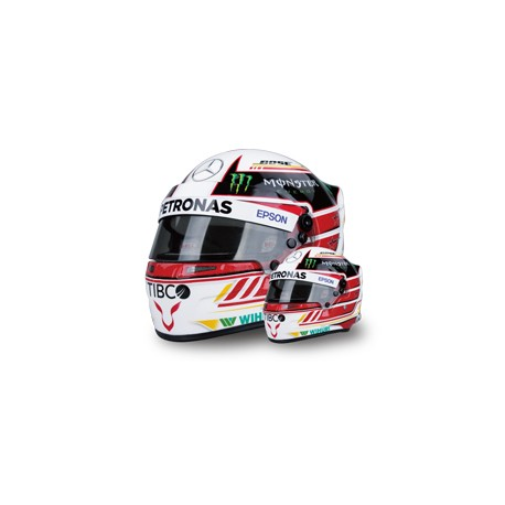 mini casque 1 2 lewis hamilton 2018 formulasports. Black Bedroom Furniture Sets. Home Design Ideas