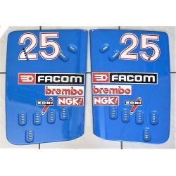 Ligier JS31 René Arnoux pair of rear wing endplates