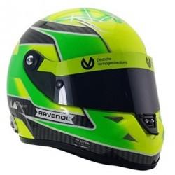 Mini casque 1/2 Mick Schumacher Champion Formule 3 en 2018 sur Dallara F317