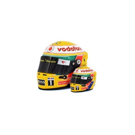 mini casque 1 2 lewis hamilton 2012 formulasports. Black Bedroom Furniture Sets. Home Design Ideas