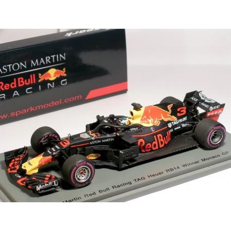 Red Bull Racing RB14 Daniel Ricciardo Winner 2018 Monaco GP
