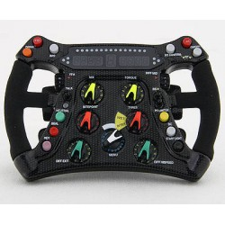 BRAWN GP BGP001 steering-wheel scale 1/4