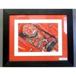 Peinture à l'huile Michael Schumacher / Ferrari