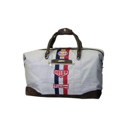 Original Gulf Travelbag,  canvas with real leather
