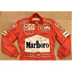 signed 2003 Rubens Barrichello / Ferrari Spain GP suit