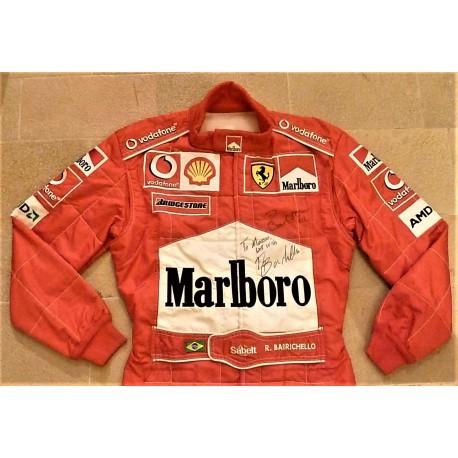 signed 2003 Rubens Barrichello / Ferrari Spain GP suit