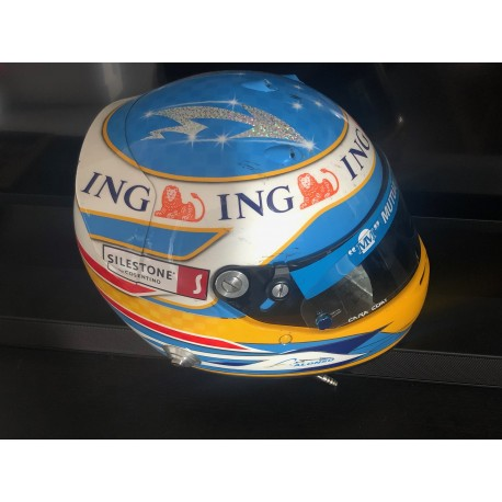 Fernando Alonso / Renault helmet used during the 2008 Australian GP