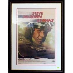 Framed Steve McQueen/Le Mans lithography