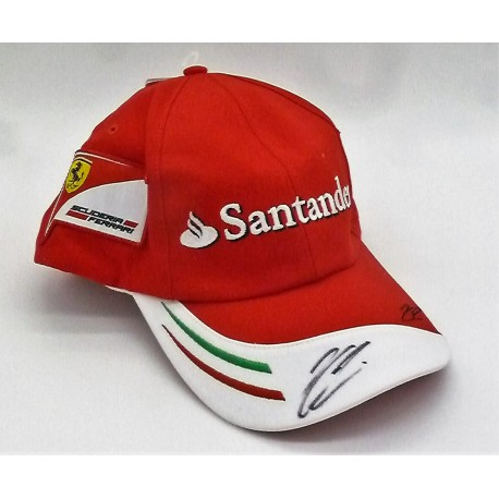 5f9795f3 signed Kimi Räikkönen / Ferrari Cap - FormulaSports