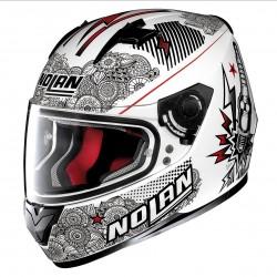 Nolan N64 Let's go metal white
