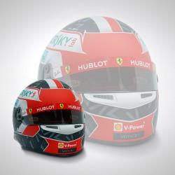 Mini casque 1/2 Charles Leclerc / Ferrari 2019