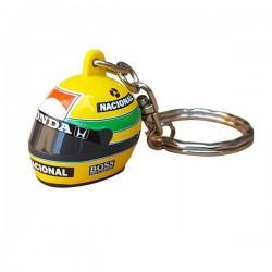 Porte-clefs Ayrton Senna 3D casque 1988