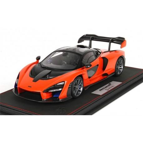 McLaren Senna orange BBR scale 1/18